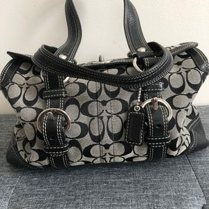 Coach monogram satchel bag